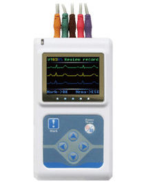 China Dynamic ECG System 2AA Battery 3 Channel Holter ECG System with PC English Software supplier
