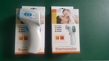 China White Lcd Display Tricolor Backlight Digital Infrared Thermometer Body Temerature Test distributor