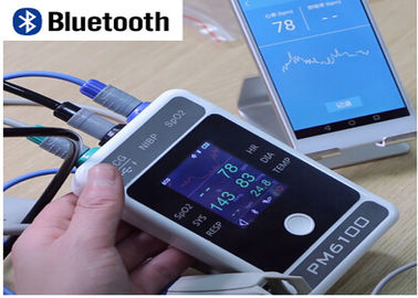China PM6100 handheld bluetooth portable 7 inch multiparameter patient monitor distributor