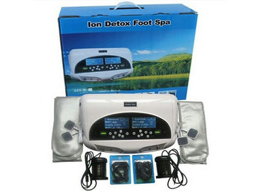 China Two LCD discreen display White color Dual persons use detox foot spa machine 110-240V distributor