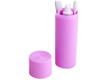 China Portable Traval Plactic Corrugated Toothbrush Box Toiletries Stationery Holder Cover Cups distributor