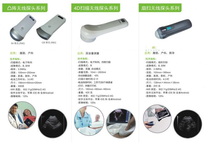 Portable Ultrasonic Diagnostic Devices Type wireless ultrasound with convex probe