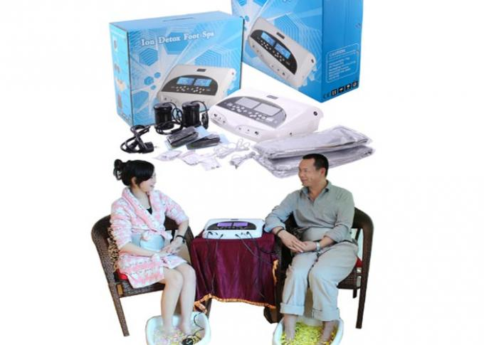 Two LCD discreen display White color Dual persons use detox foot spa machine 110-240V