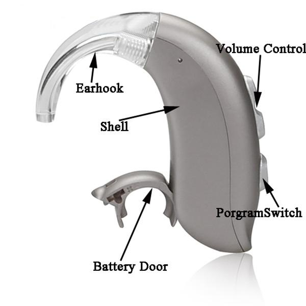 Programmeable Hearing aids Amplifier for deaf person , Mini BTE digital hearing aids Feie