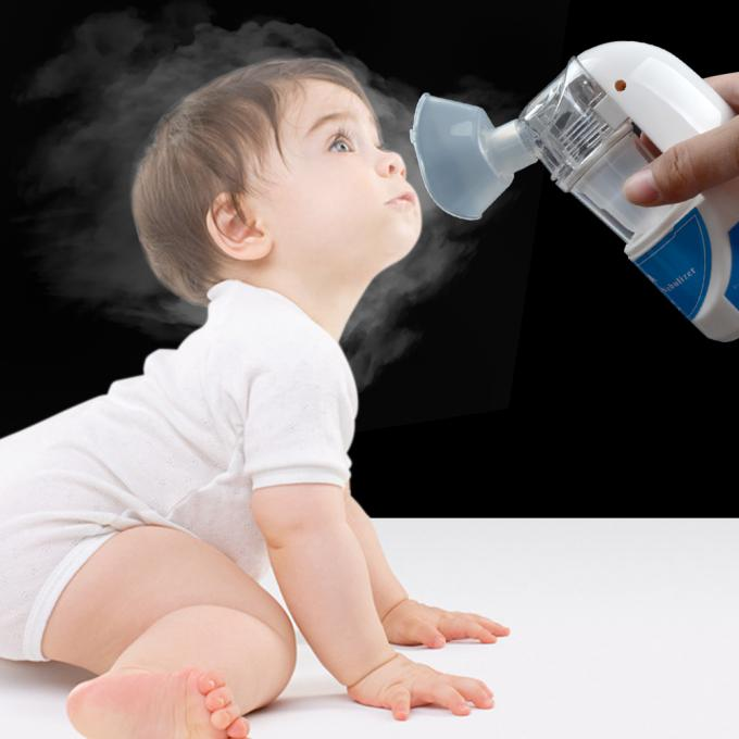 Two Airflow Control Medical Handheld Mini Ultrasonic Nebulizer for Children Adult with Two Mask